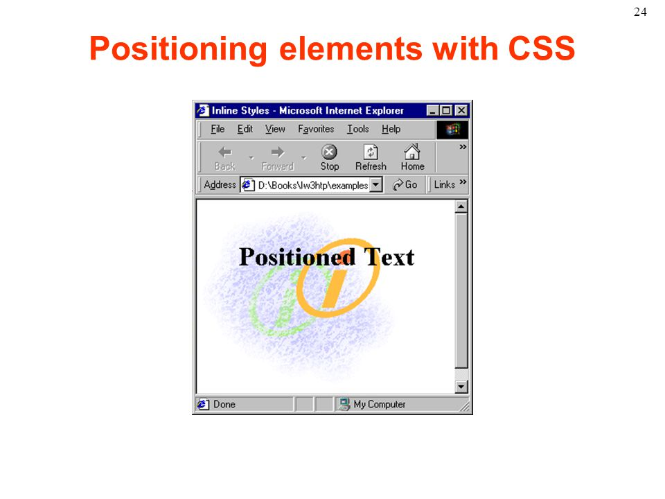 24 Positioning elements with CSS