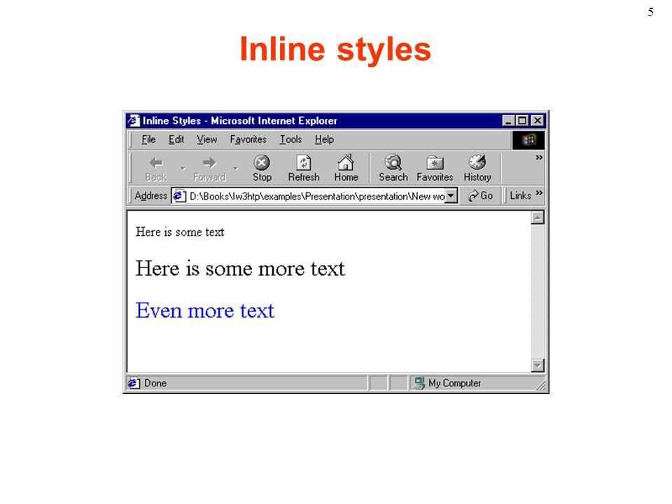 5 Inline styles