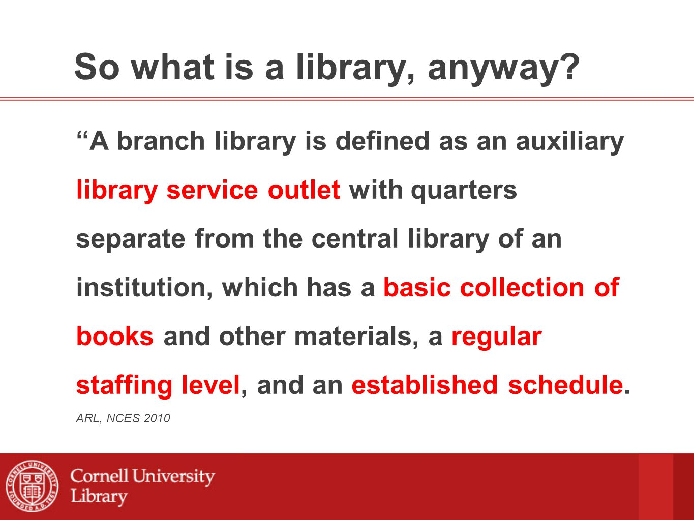 So what is a library, anyway.