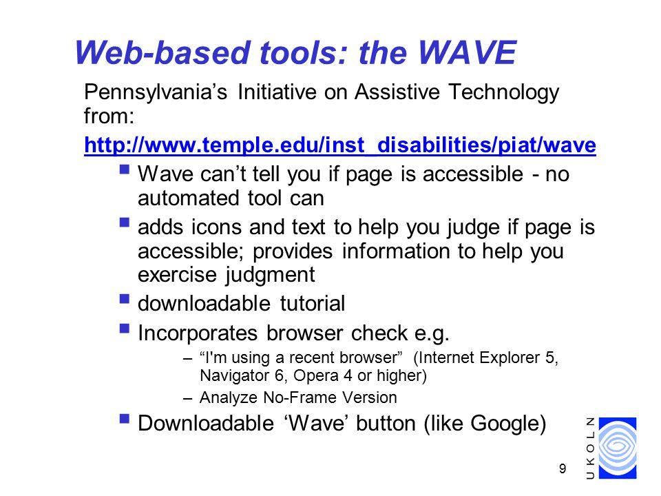 20 W3C Ten quick tips for accessible websites