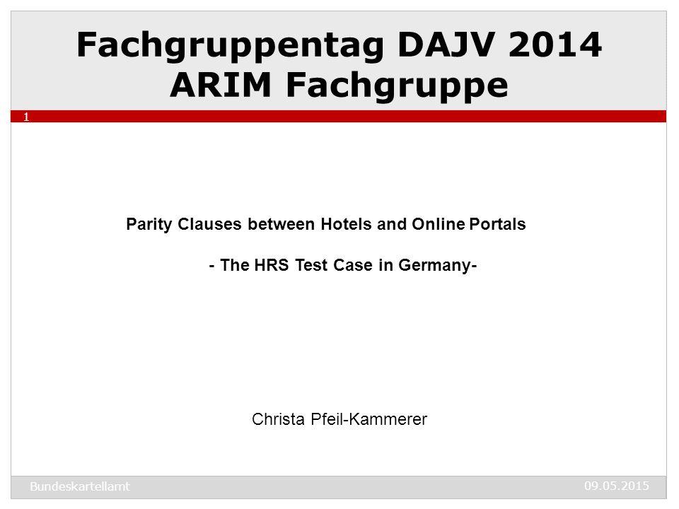 09.05.2015 Bundeskartellamt 2 Agenda 1.How did the case start off.