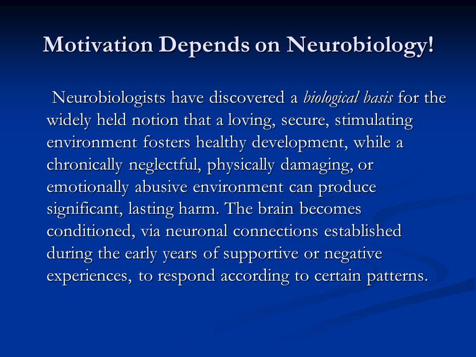 Motivation Depends on Neurobiology.