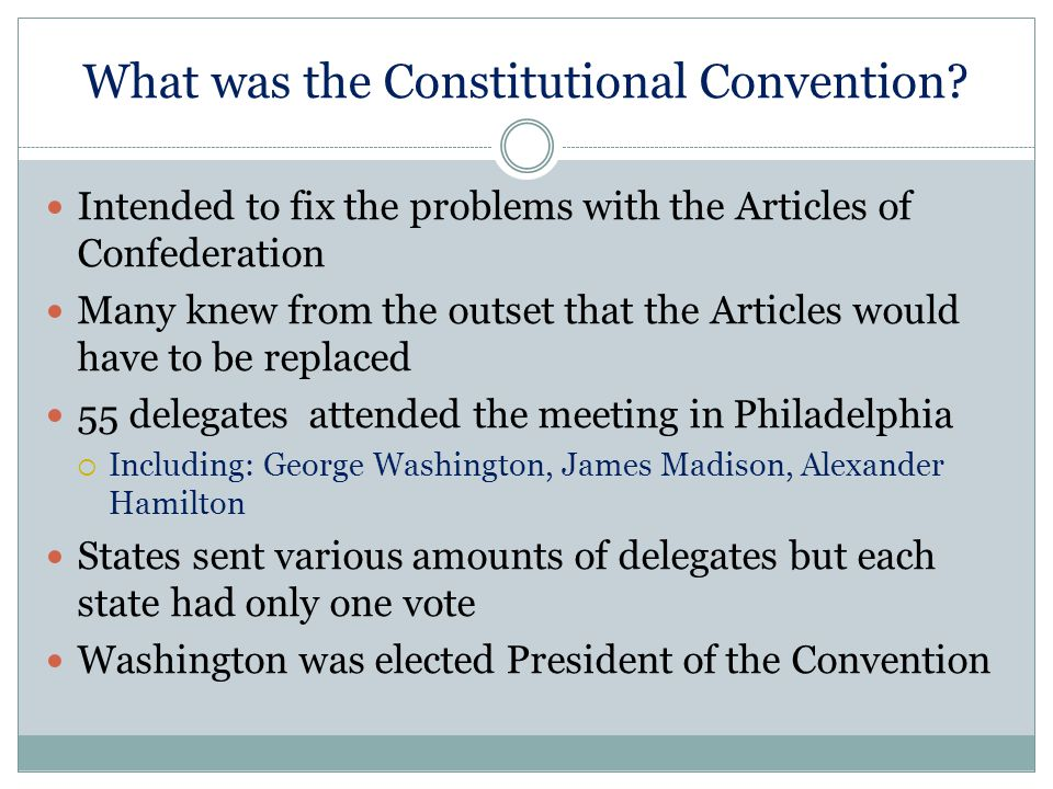 What was the Constitutional Convention.