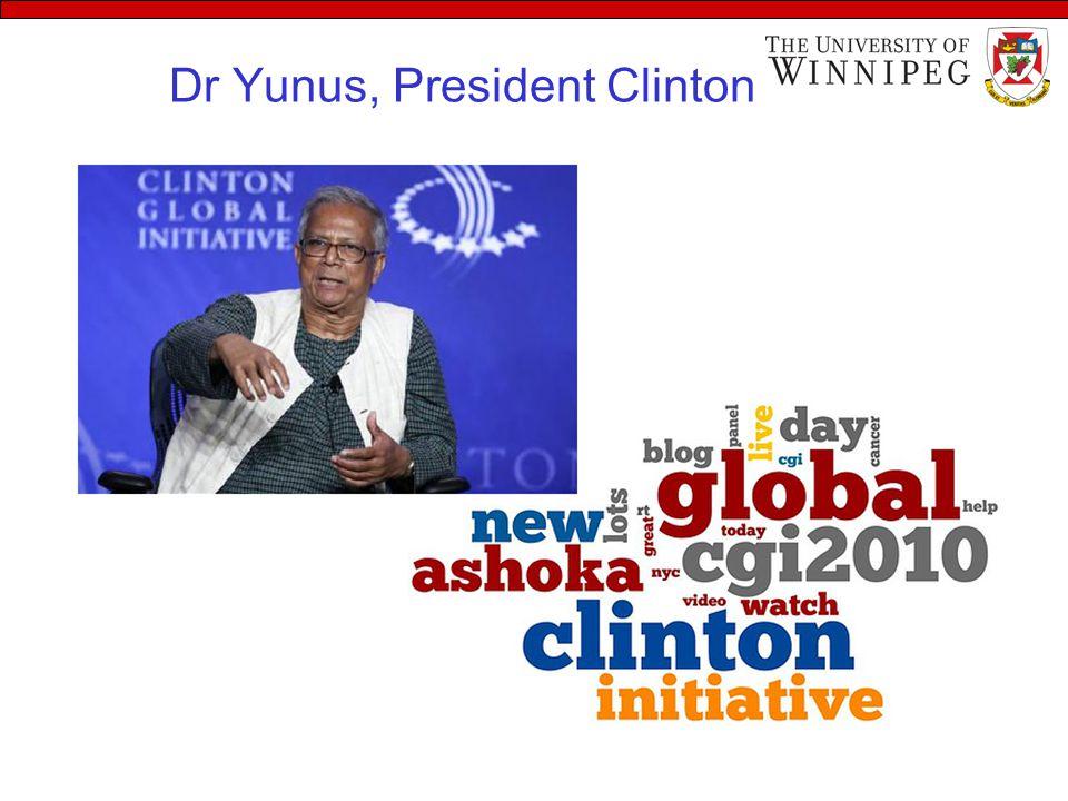 Dr Yunus, President Clinton