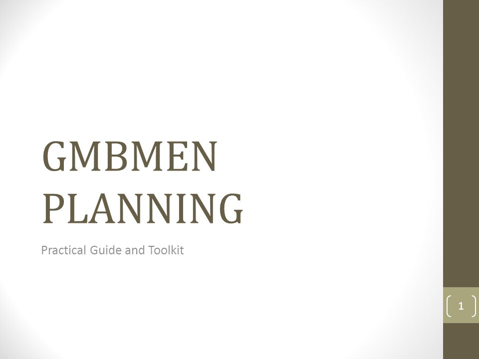 GMBMEN PLANNING Practical Guide and Toolkit 1