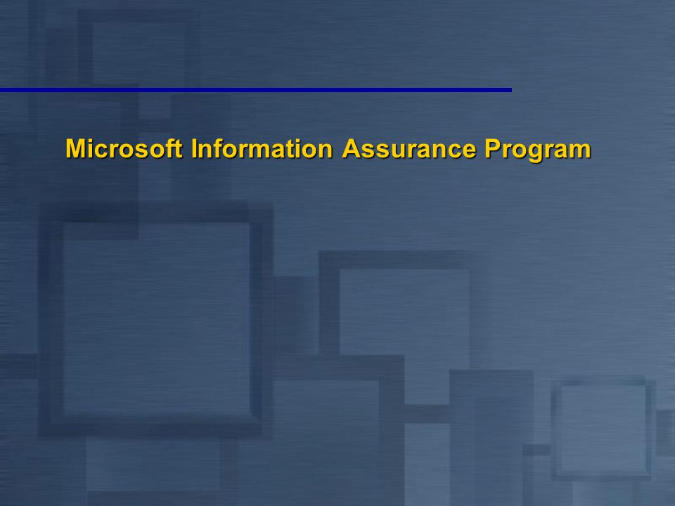Microsoft Information Assurance Program