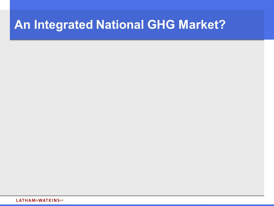 An Integrated National GHG Market?