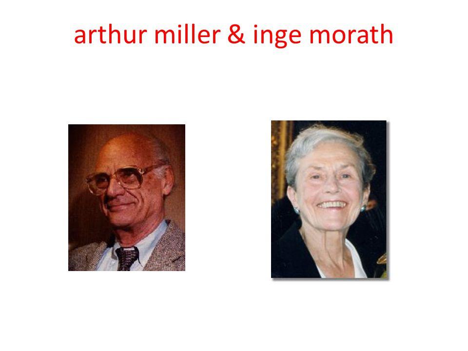 arthur miller & inge morath