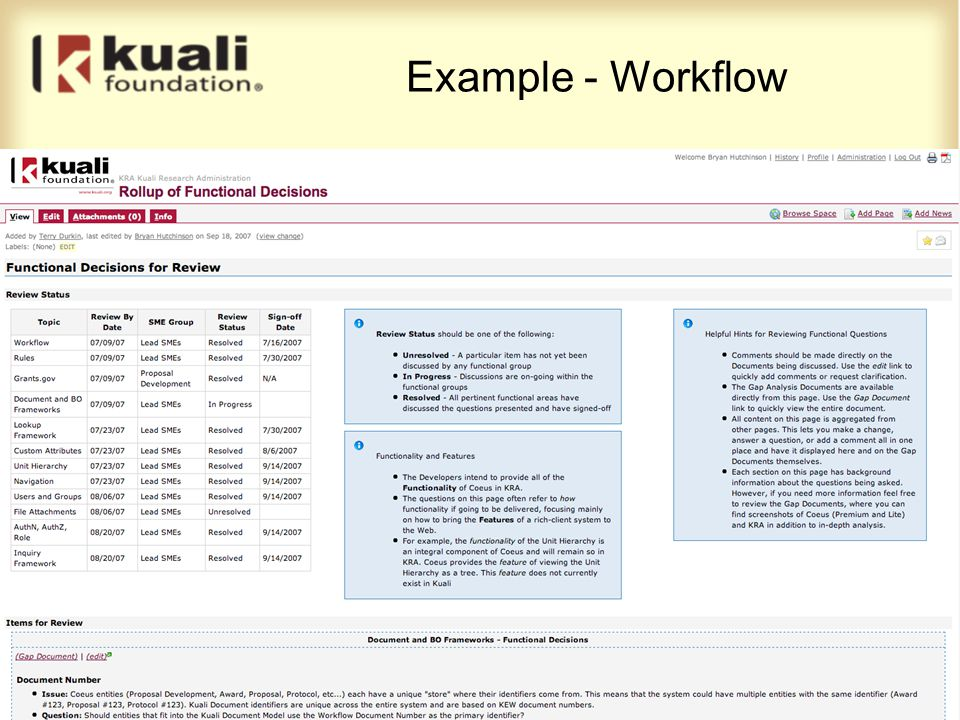 Example - Workflow