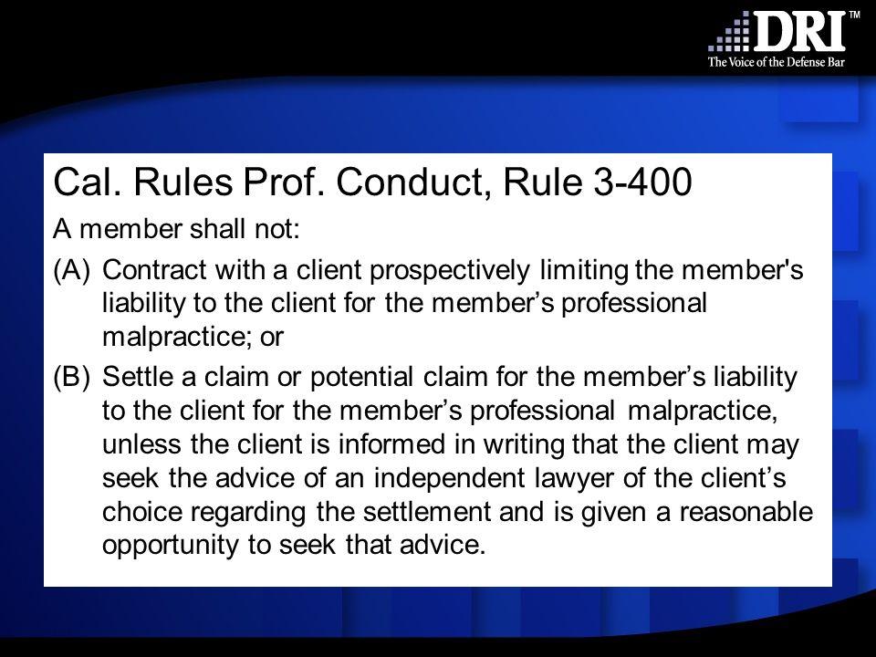 Cal. Rules Prof.