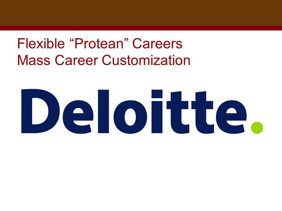 Dr. Brad Harrington, ©2011 Flexible Protean Careers Mass Career Customization