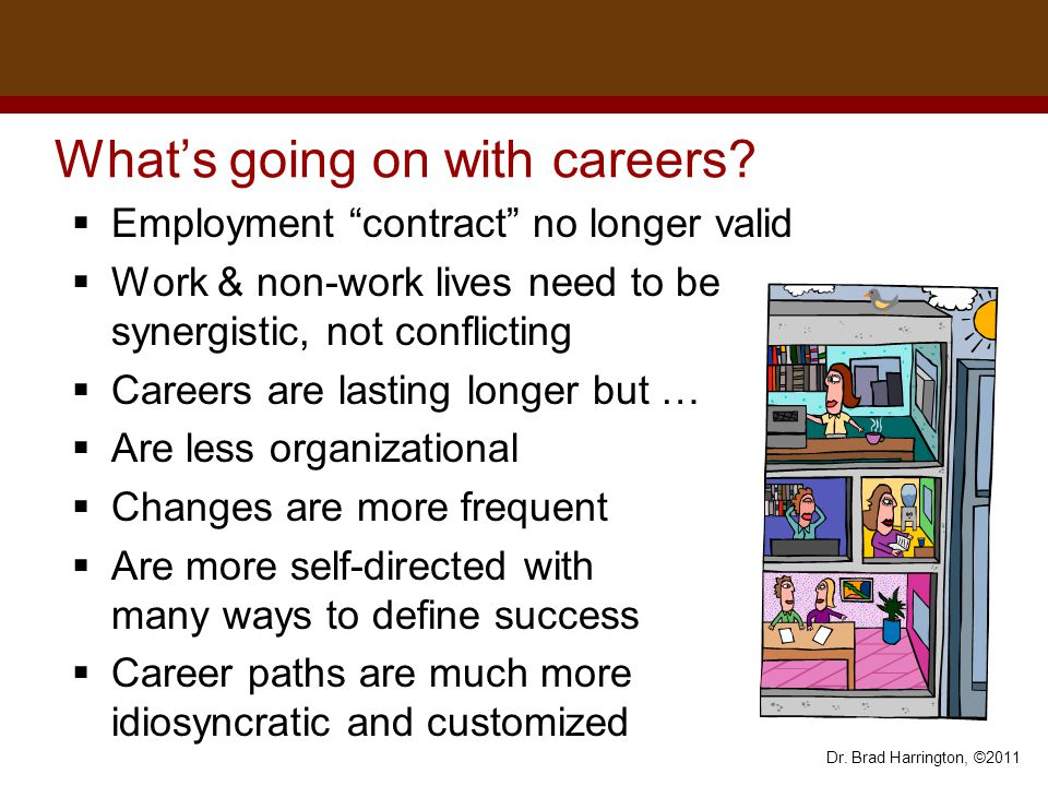 Dr. Brad Harrington, ©2011 What's going on with careers.
