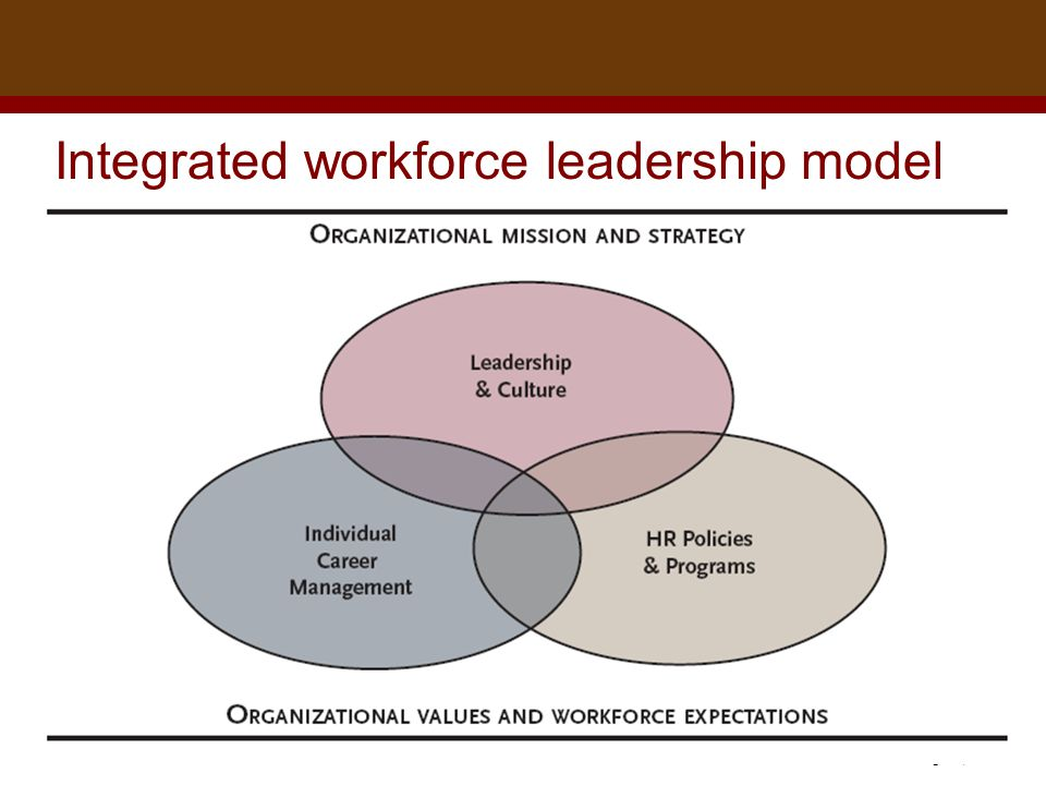 Dr. Brad Harrington, ©2011 Integrated workforce leadership model