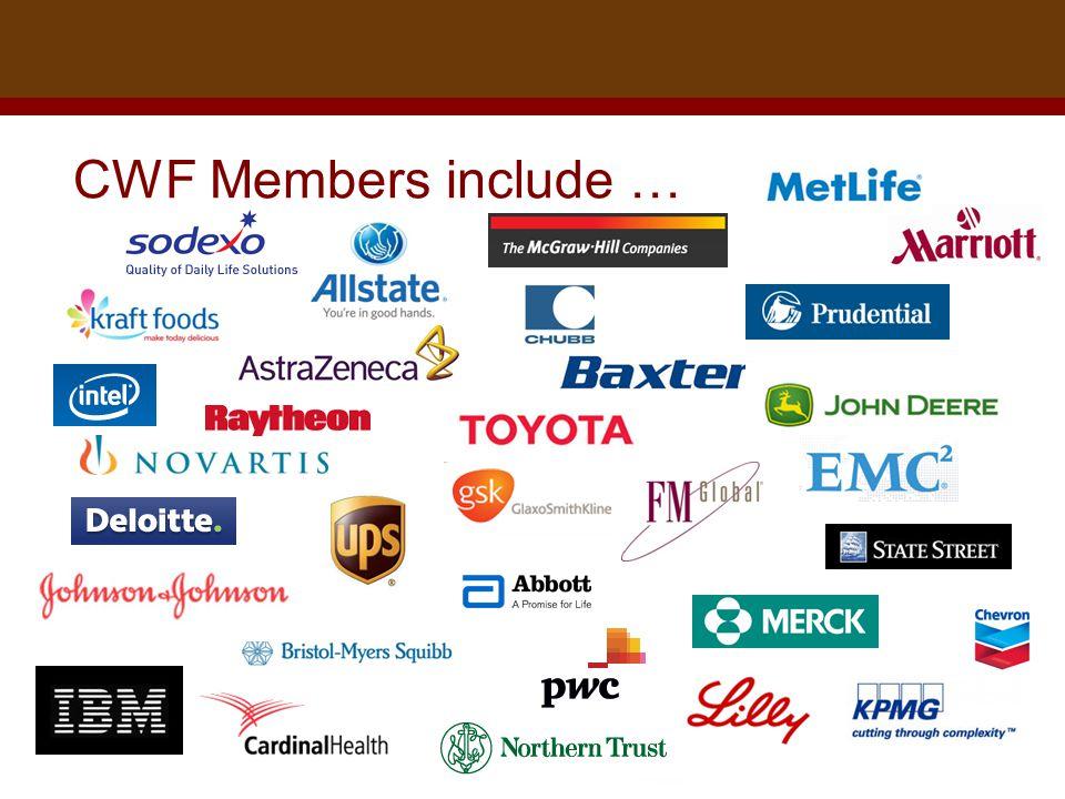 Dr. Brad Harrington, ©2011 CWF Members include …