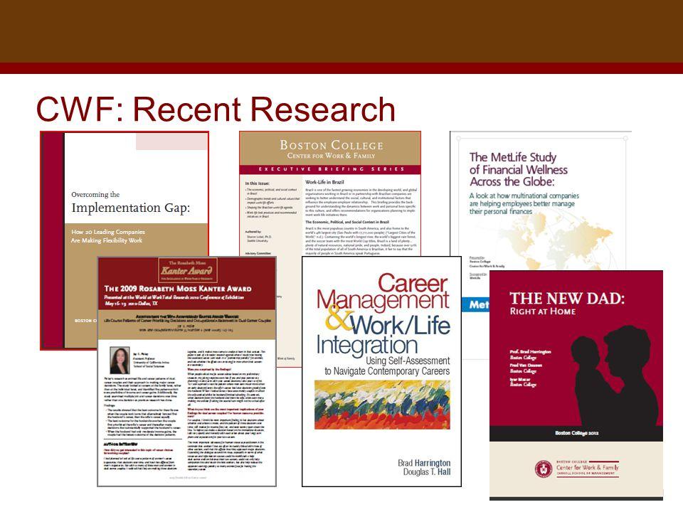 Dr. Brad Harrington, ©2011 CWF: Recent Research