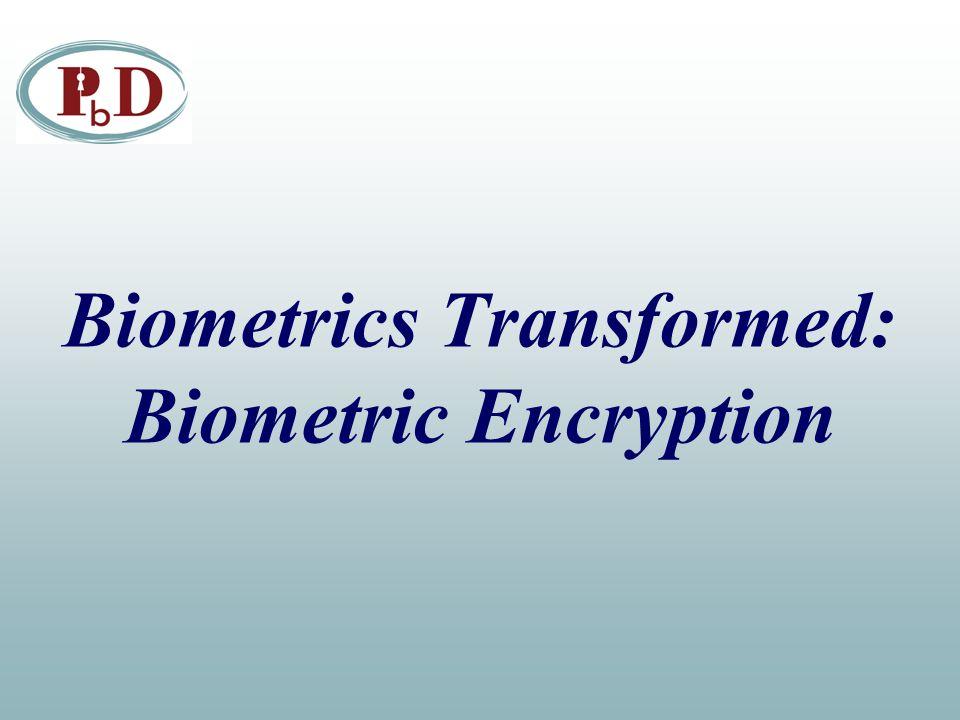Biometrics Transformed: Biometric Encryption