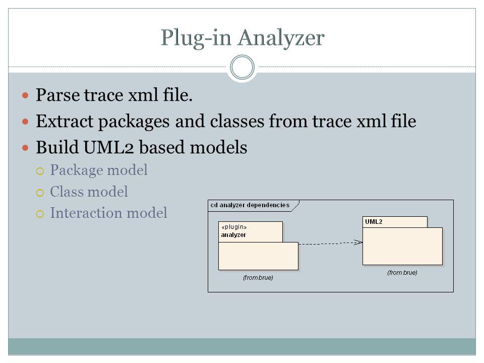 Parse trace xml file.