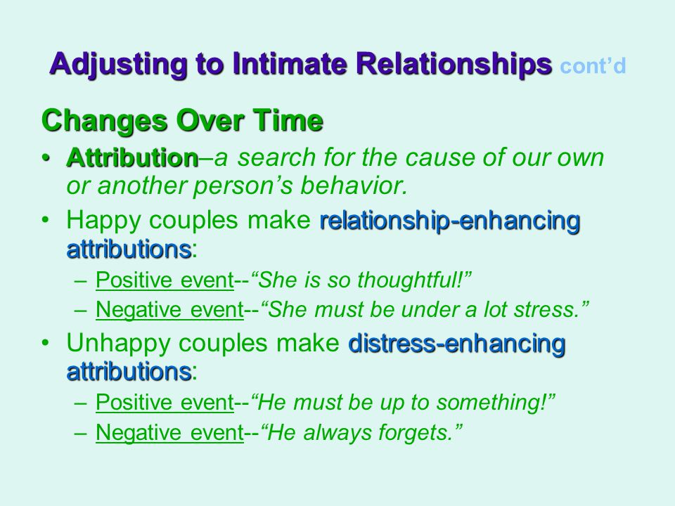 Changes Over Time AttributionAttribution–a search for the cause of our own or another person's behavior.