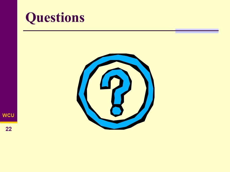 WCU 22 Questions