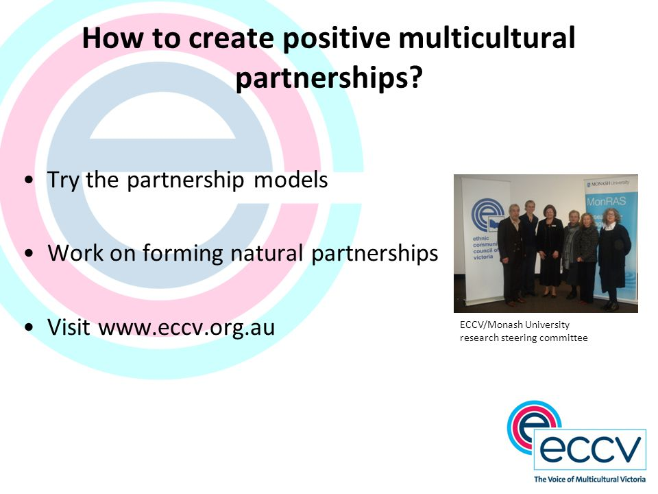 How to create positive multicultural partnerships.