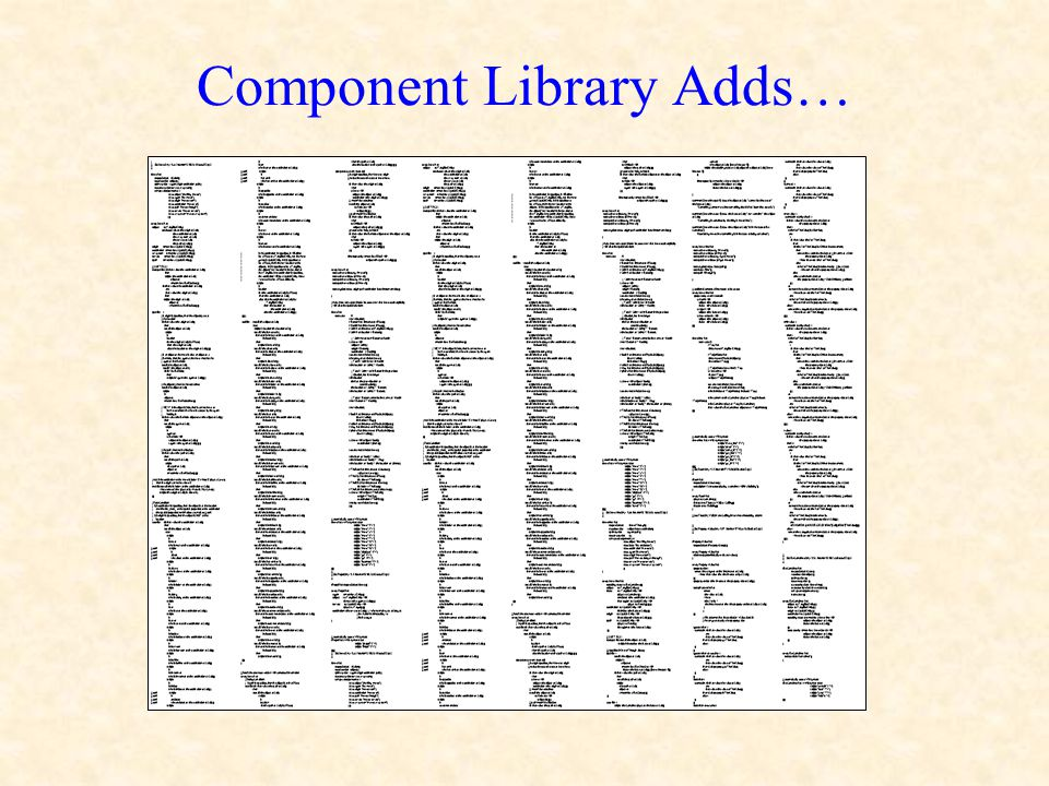 Component Library Adds…