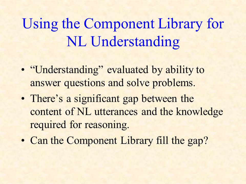 Understanding evaluated by ability to answer questions and solve problems.