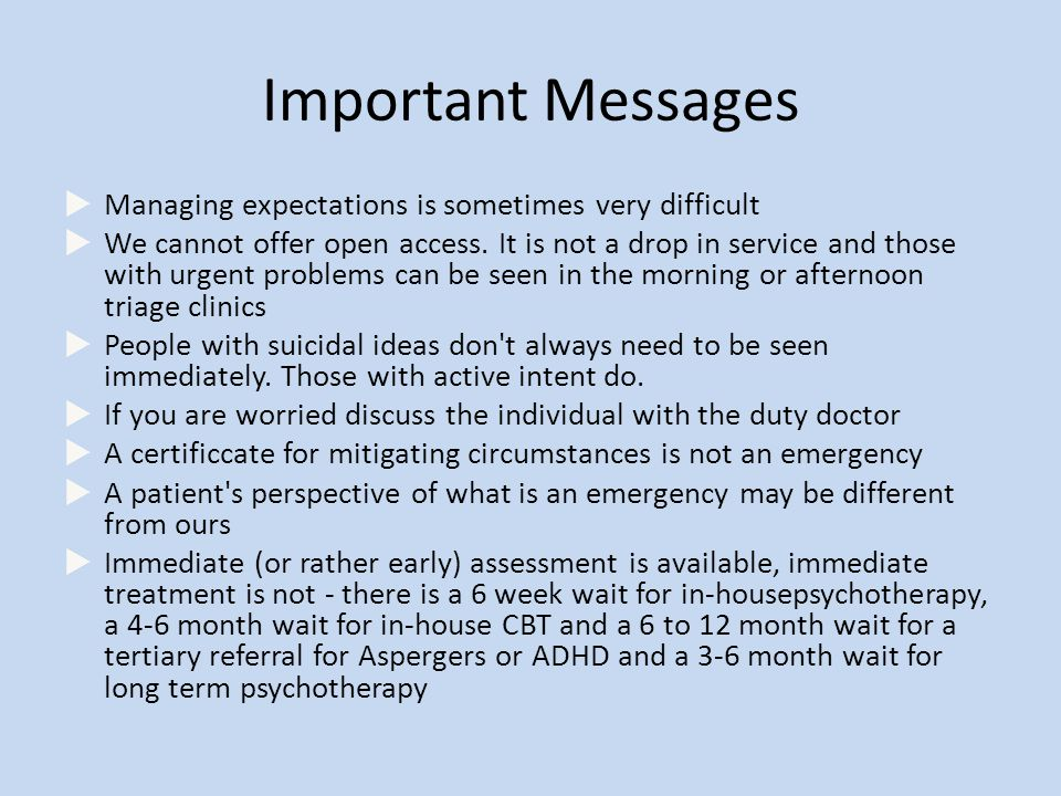 Important Messages  Managing expectations is sometimes very difficult  We cannot offer open access.