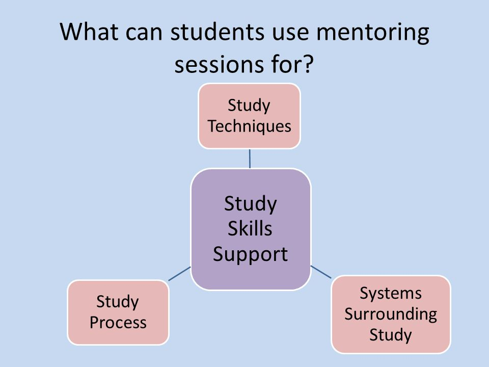 What can students use mentoring sessions for.