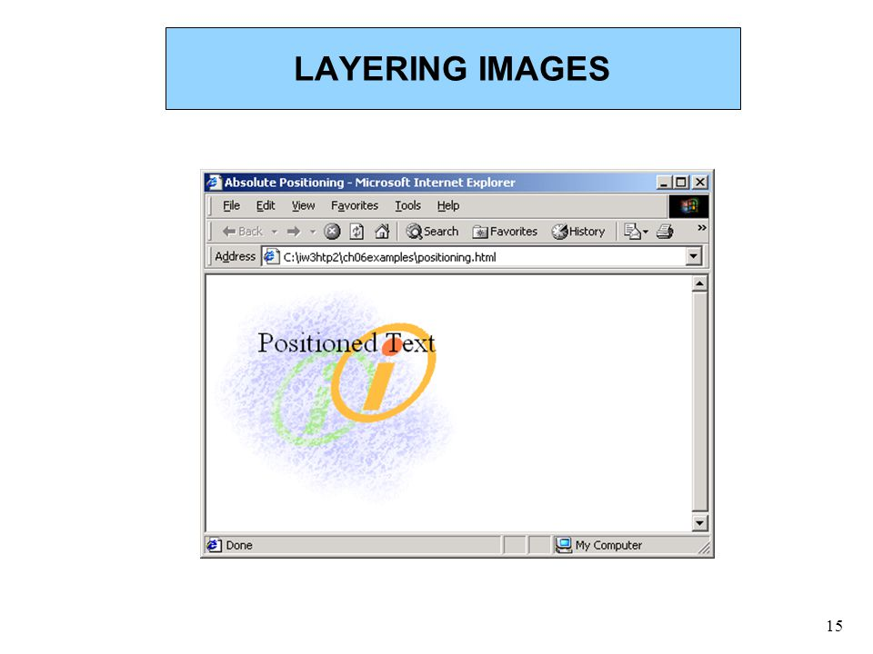 15 LAYERING IMAGES