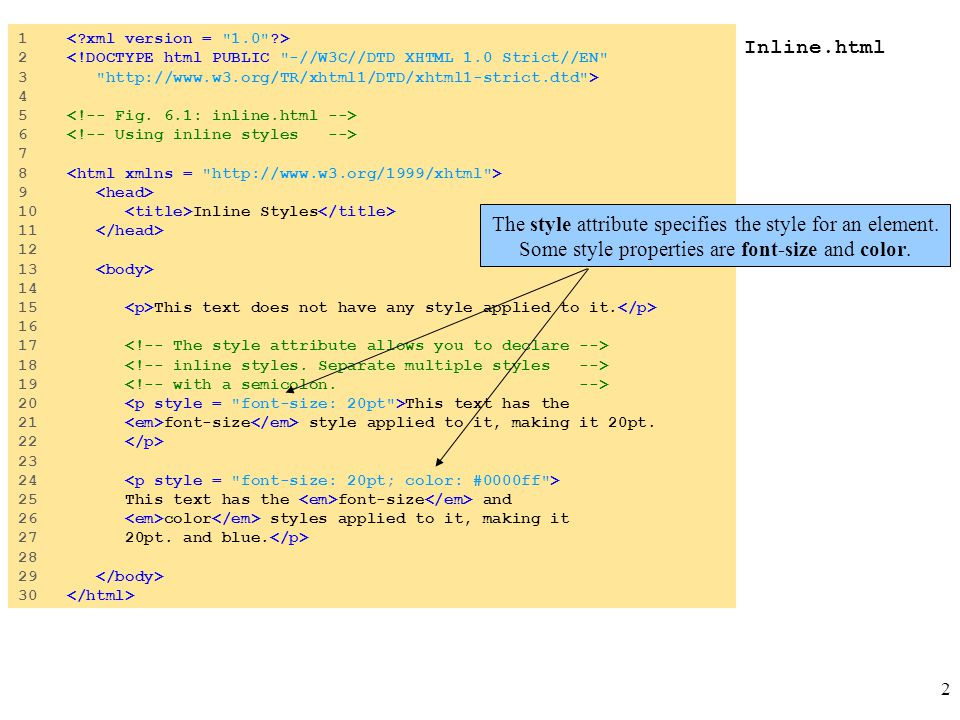 2 Inline.html 1 2 <!DOCTYPE html PUBLIC