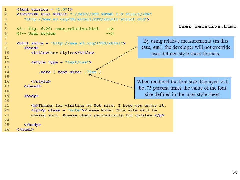 38 User_relative.html 1 2 <!DOCTYPE html PUBLIC
