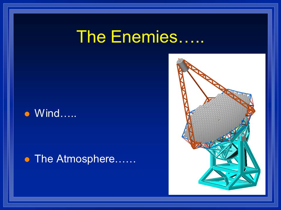The Enemies….. l Wind….. l The Atmosphere……