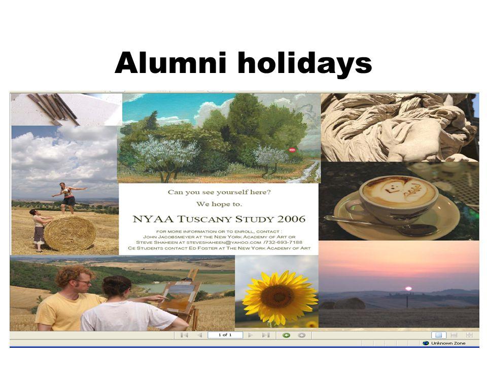 33 Alumni holidays