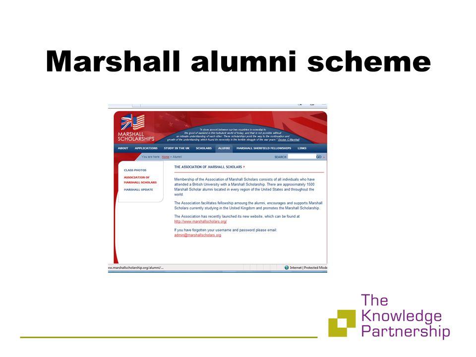 Marshall alumni scheme