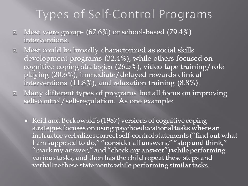  Most were group- (67.6%) or school-based (79.4%) interventions.
