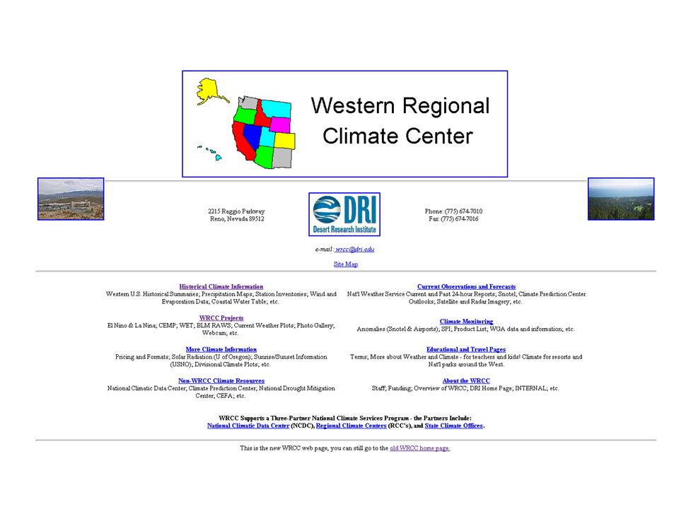 National Weather Service Cooperative Network Approximately 5000 daily max/min temperature stations, 8000 daily precipitation stations, 3000 automated hourly precipitation stations.