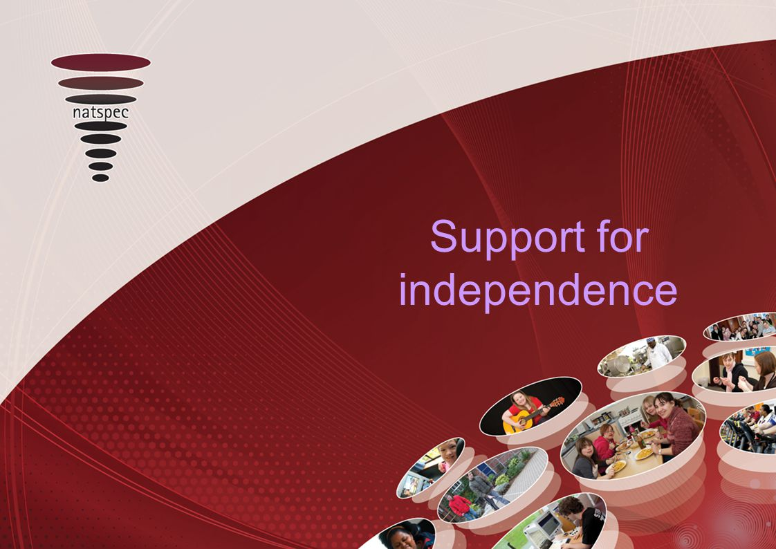 Support for independence