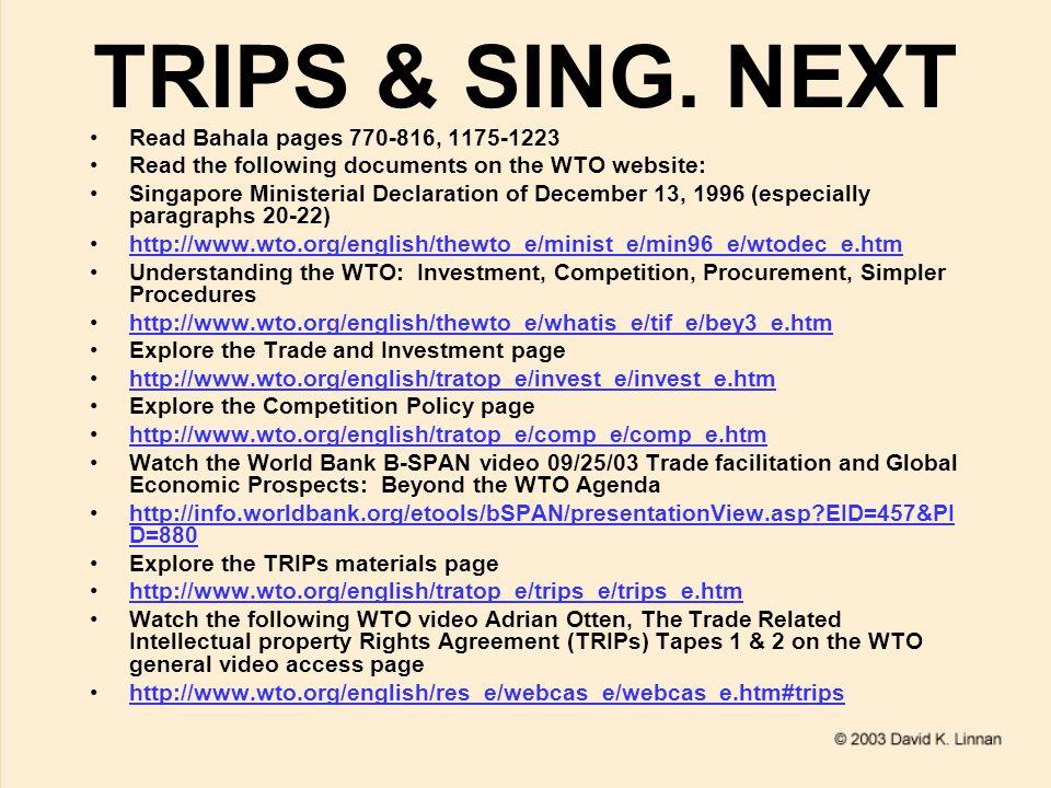TRIPS & SING.