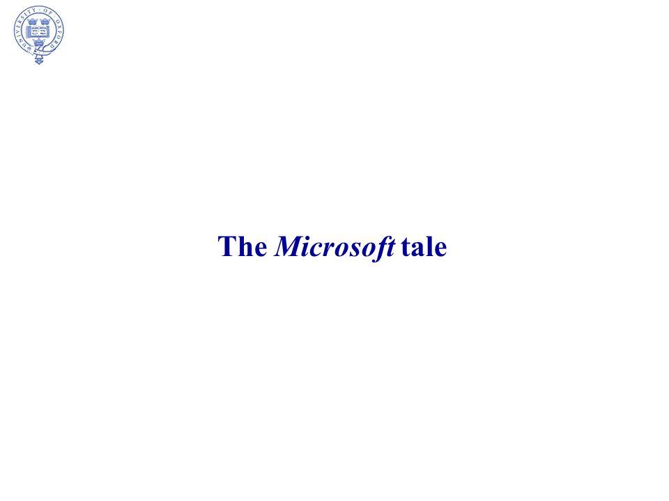 The Microsoft tale