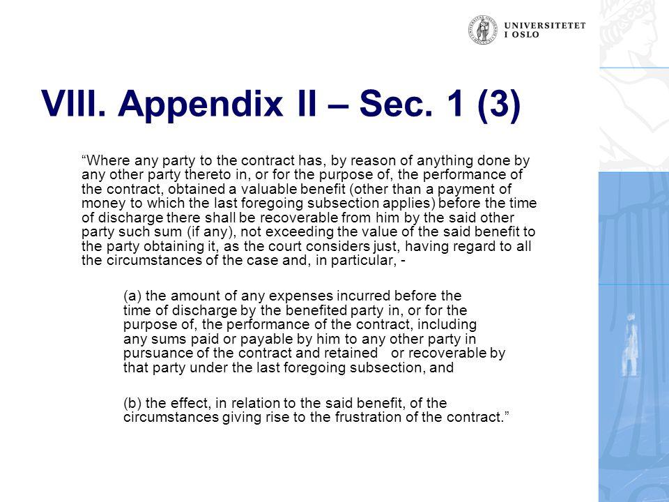 VIII. Appendix II – Sec.