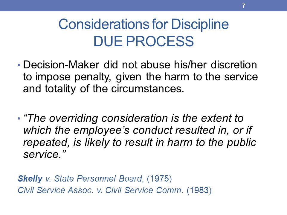 Be Aware in deciding discipline…  Issues in mitigation...