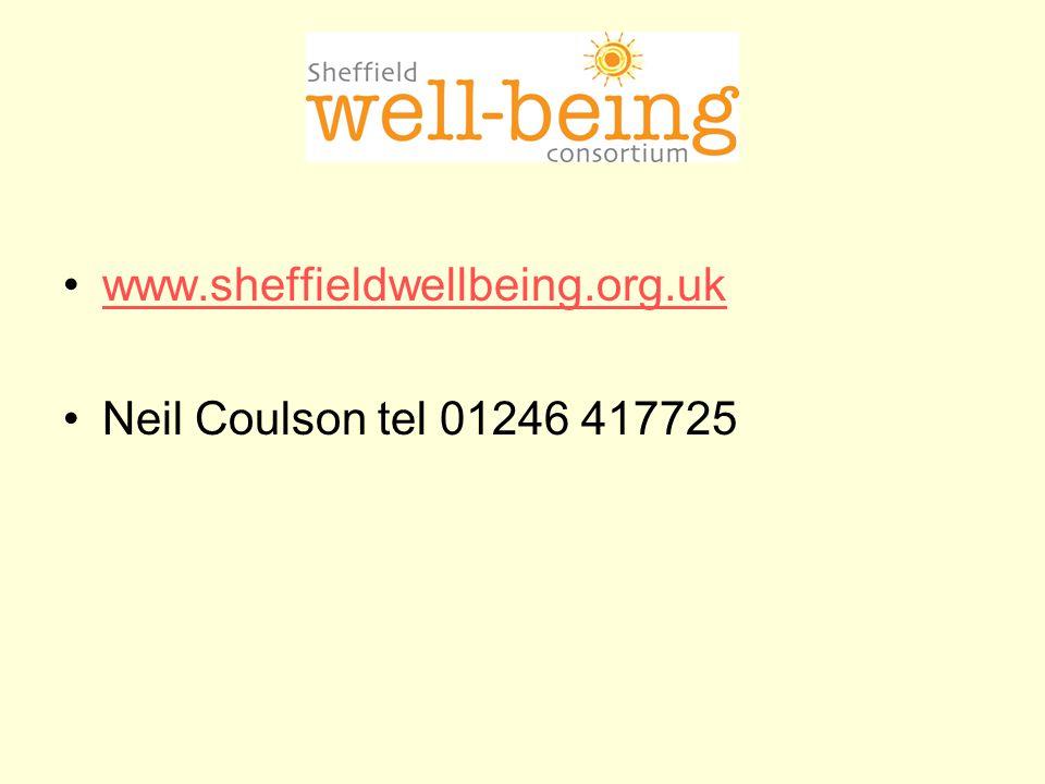 www.sheffieldwellbeing.org.uk Neil Coulson tel 01246 417725