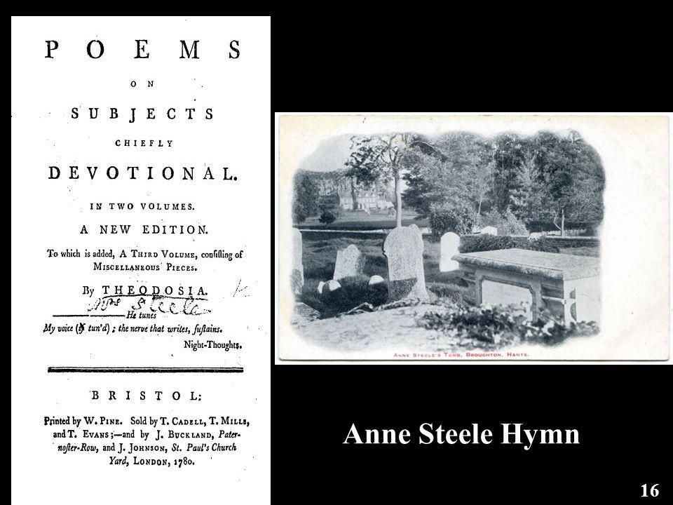 Anne Steele Hymn 16