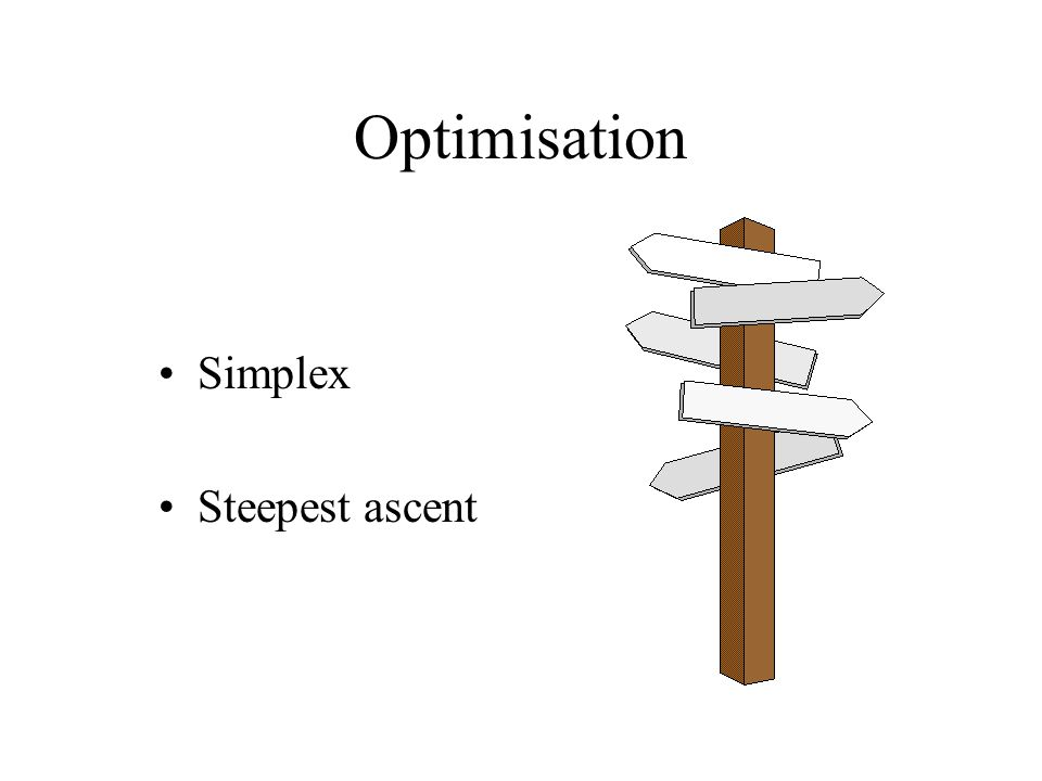Simplex Steepest ascent