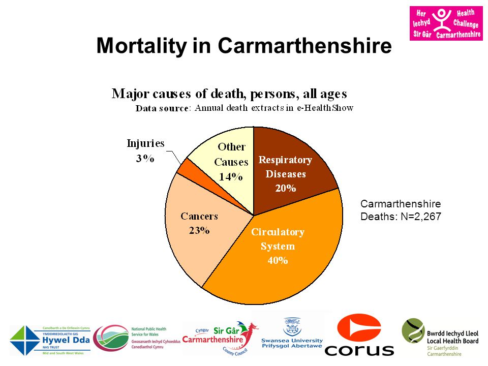 Mortality in Carmarthenshire Carmarthenshire Deaths: N=2,267
