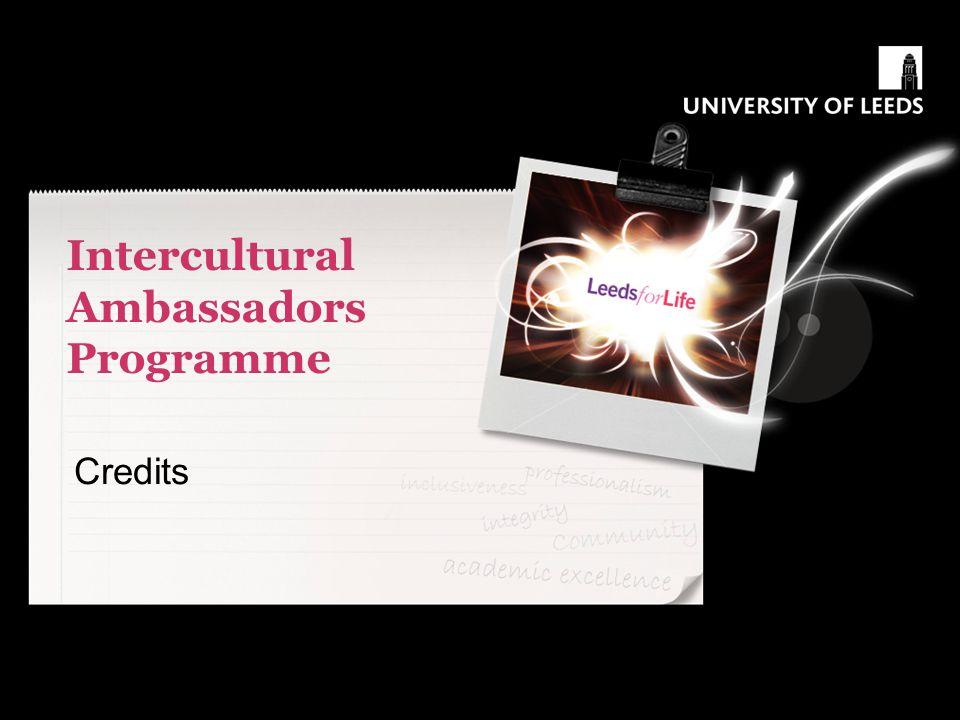 Intercultural Ambassadors Programme Credits
