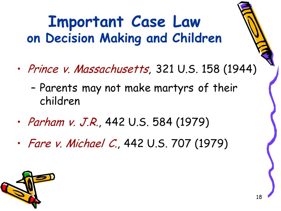 18 Important Case Law on Decision Making and Children Prince v.