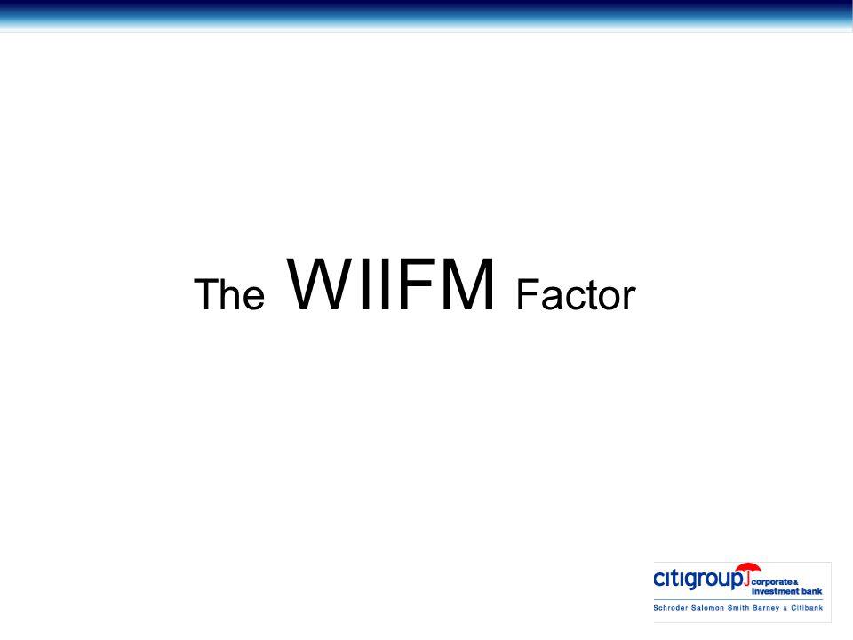 The WIIFM Factor
