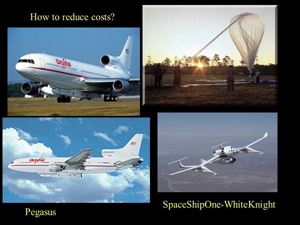 How to reduce costs? Pegasus SpaceShipOne-WhiteKnight