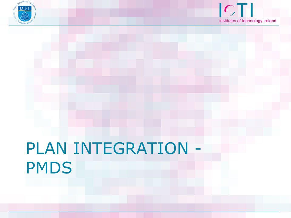 PLAN INTEGRATION - PMDS